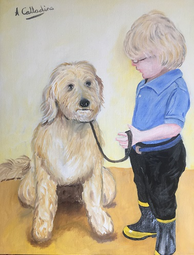 boys best friend. Original art by Andy Calladine