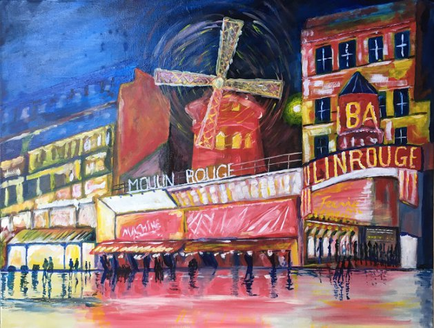 Moulin Rouge. Original art by Andy Calladine