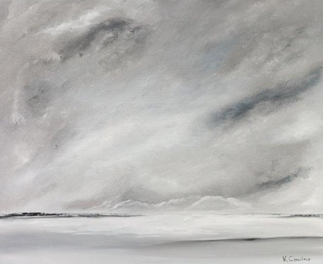 In the Distance. Original art by Ken Cowins