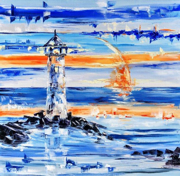 Lighthouse 90*90. Original art by Tanya Stefanovich