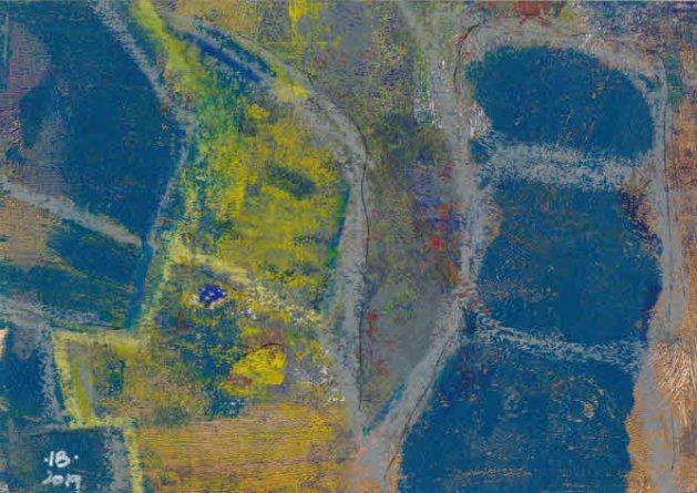 Cellular - monotype. Original art by Ian Bertram