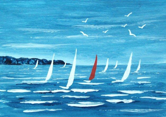 Sailing 2#. Original art by Patricia Richards