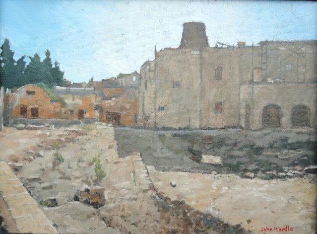 Roman Remains Old Rhodes Town. Original art by John Wardle