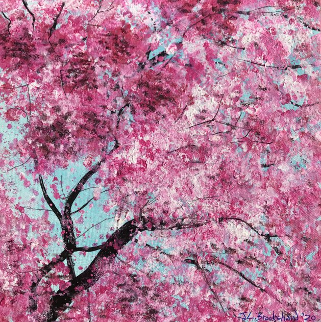 Cherry Blossom. Original art by Jane Brookshaw