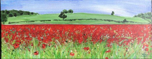 Poppy Fields. Original art by Jane Brookshaw