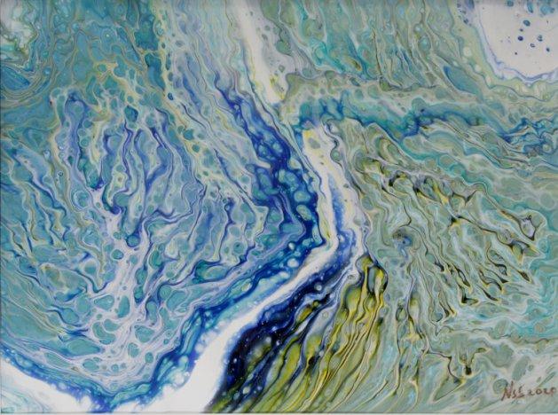 Azure Inlet. Original art by Nigel Simpkins