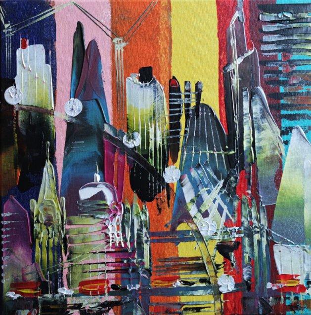 City of London Lockdown 513. Original art by Eraclis Aristidou