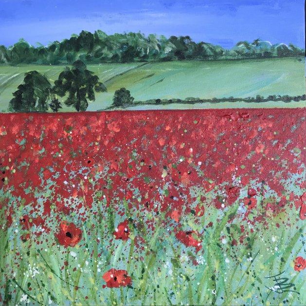 Overton Poppies. Original art by Jane Brookshaw
