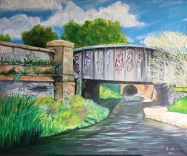 Graffiti Bridge. Original art by Andy Calladine