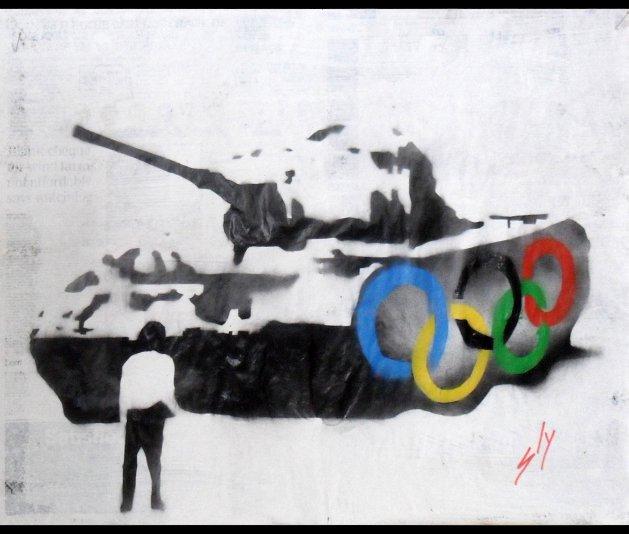 Sinolympics. Original art by Juan Sly