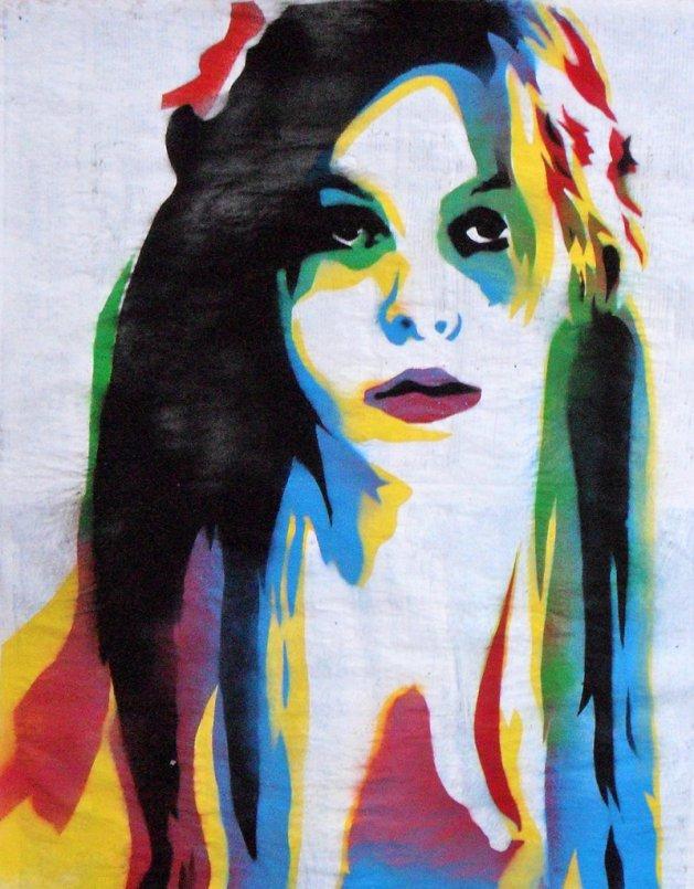 Sly girl2 (on plain paper). Original art by Juan Sly