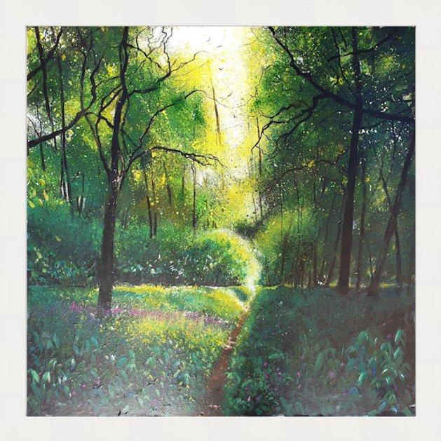 Tranquil woodland. Original art by Teresa Tanner