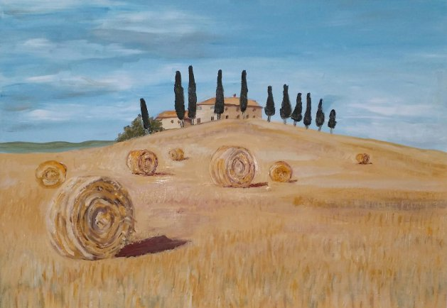 Tuscan Summer Harvest. Original art by Andi Williams
