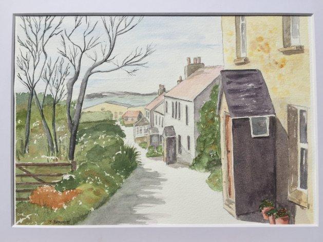The Country Lane. Original art by Janet Bramley