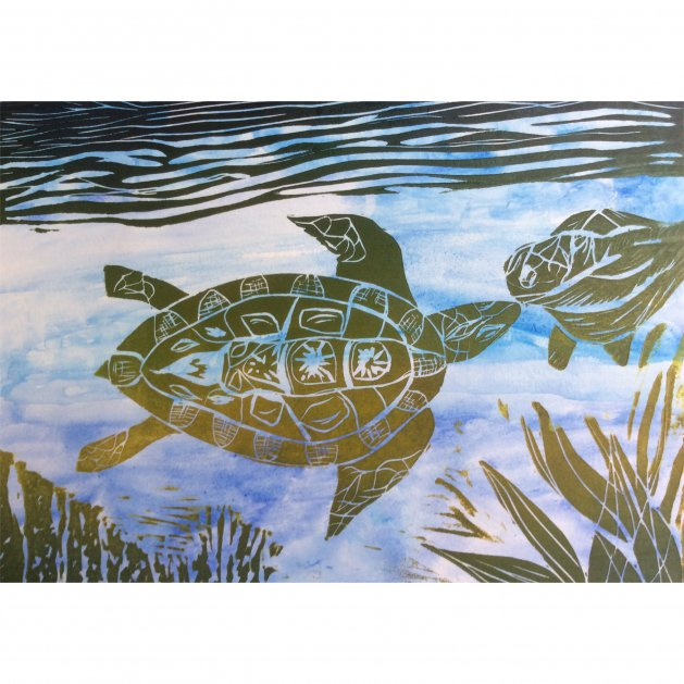Mother and Child: Turtles. Original art by Allison Murphy