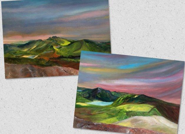 Snowdonia Walk.. Original art by Allison Murphy