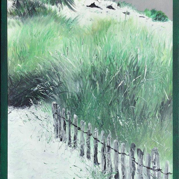 Shades of green. Original art by Janet Blower