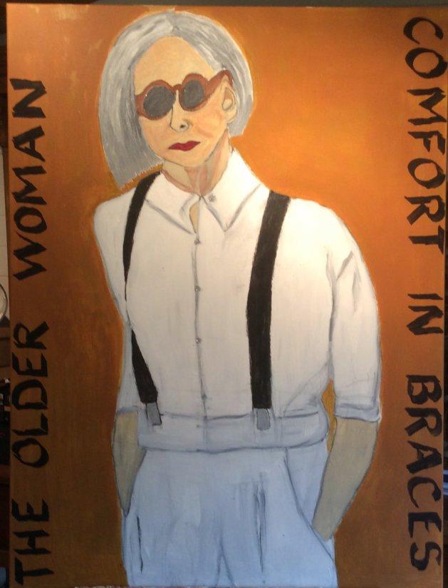 The Older Woman. Original art by Alison Baxter