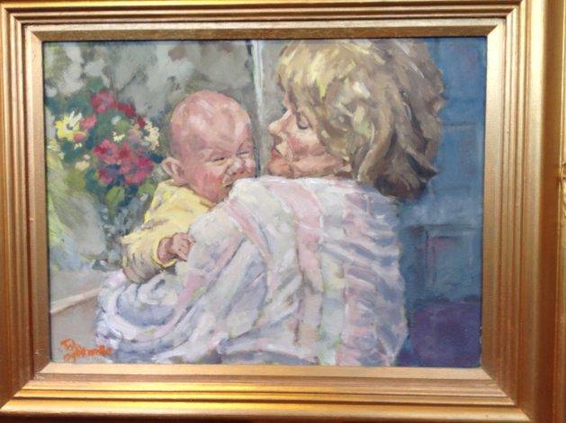 Modern Madonna (Comforting Baby). Original art by John Wardle