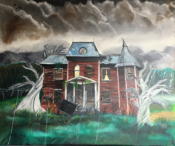 haunted house 2. Original art by Andy Calladine