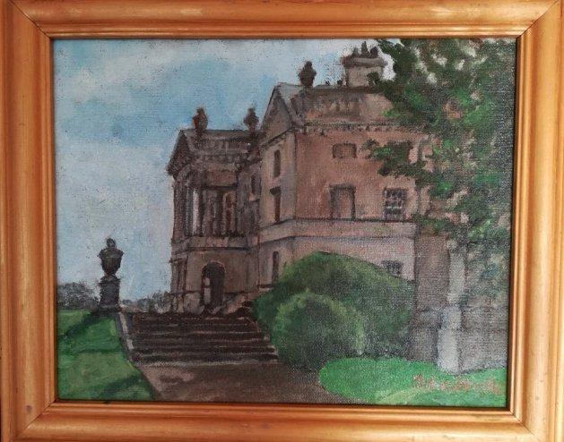 Sandbeck Hall. Original art by John Wardle