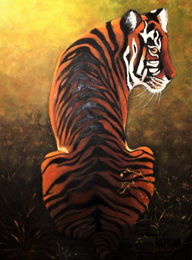 TIGER TIGER. Original art by Lynda Cockshott