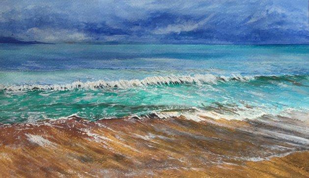 Seascape. Original art by Janet Blower