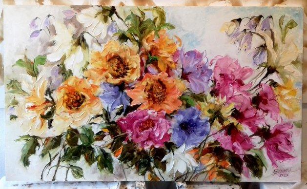 Flowers,Bissinger. Original art by Elena Bissinger