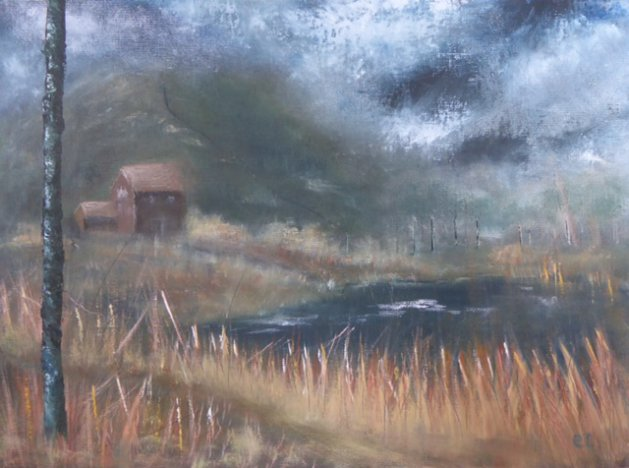 Coming of the Storm. Original art by Christine Ingram