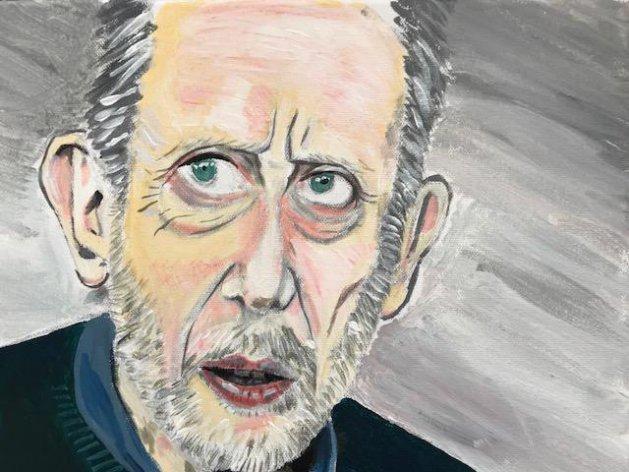Michael Rosen Portrait Study. Original art by Joe Bor