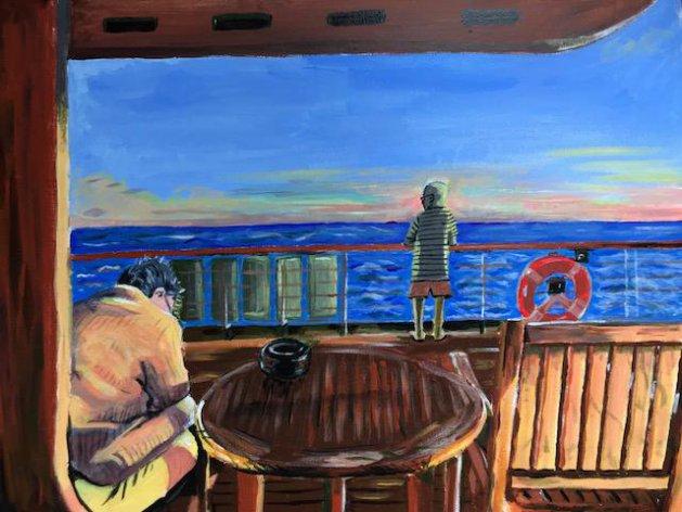 Distance At Sea. Original art by Joe Bor