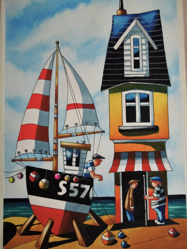The Beach House. Original art by Paul Kiernan