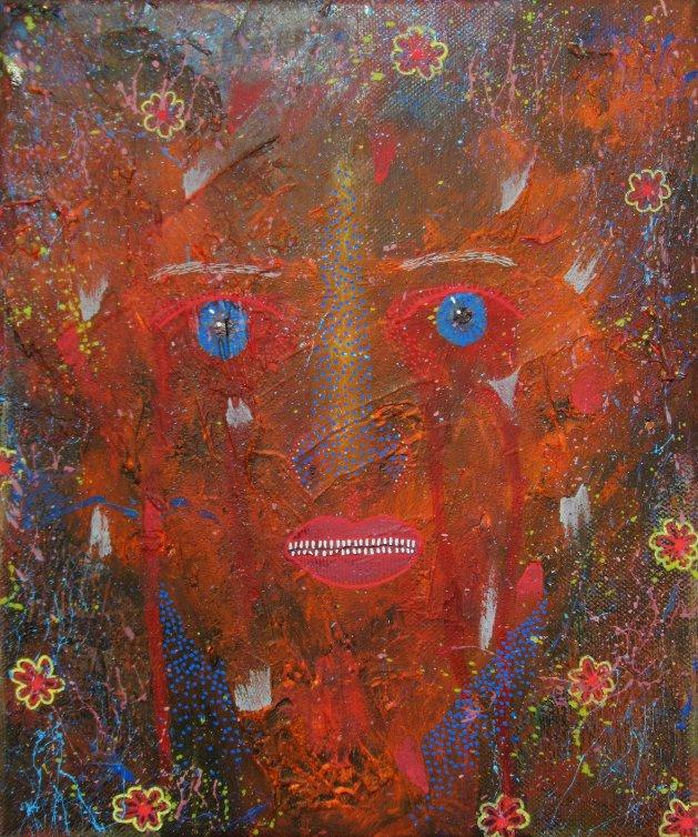 My Piercing Blue Eyes. Original art by Beatrice Margaret