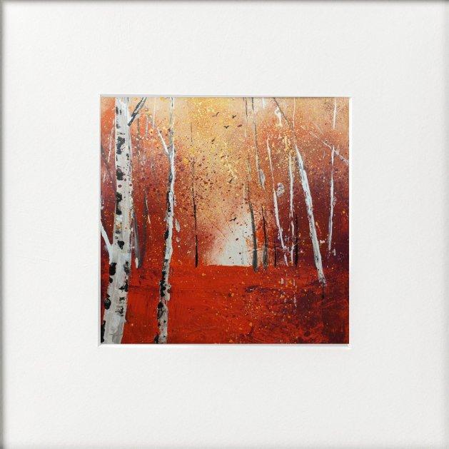Seasons - Autumn Birches. Original art by Teresa Tanner