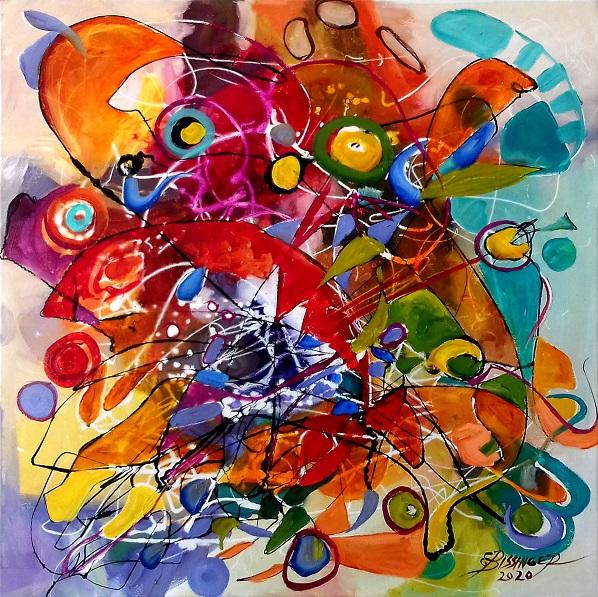 abstract Ochi de soare, Bissinger. Original art by Elena Bissinger