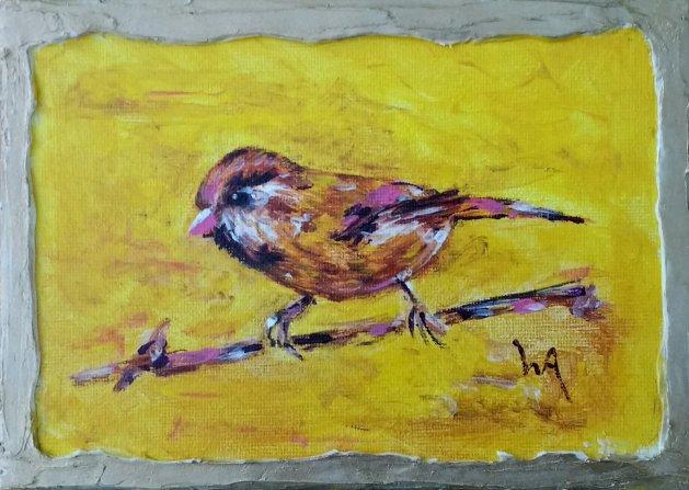 Pretty Birdie. Original art by Warren Armstrong