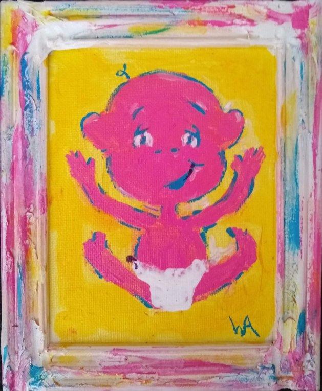 Happy Baby, Happy Life!. Original art by Warren Armstrong