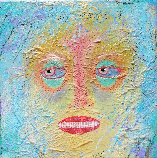 Contemplating. Original art by Beatrice Margaret