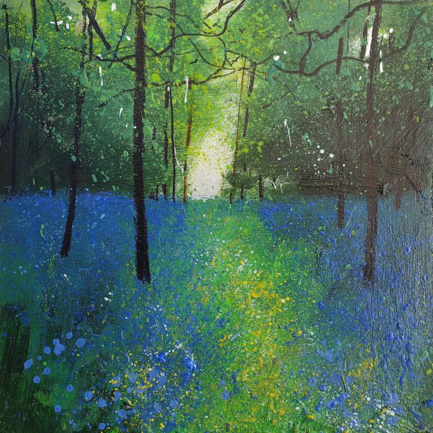 Sapphire Bluebell Woods. Original art by Teresa Tanner