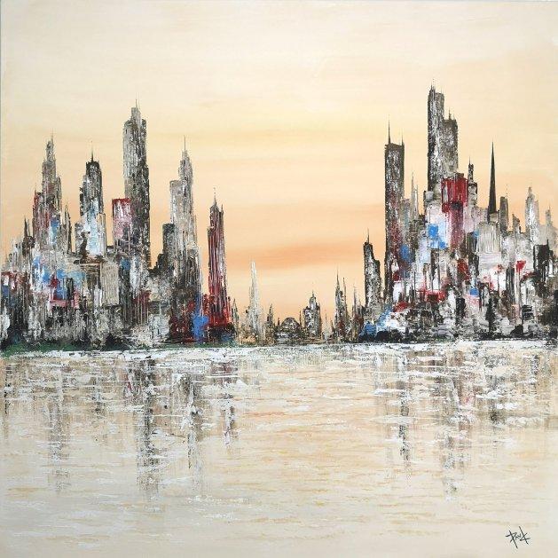 Cityscape 103. Original art by Paul Chambers