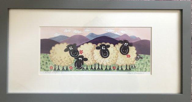 Woolly Jumpers II. Original art by Jane Brookshaw