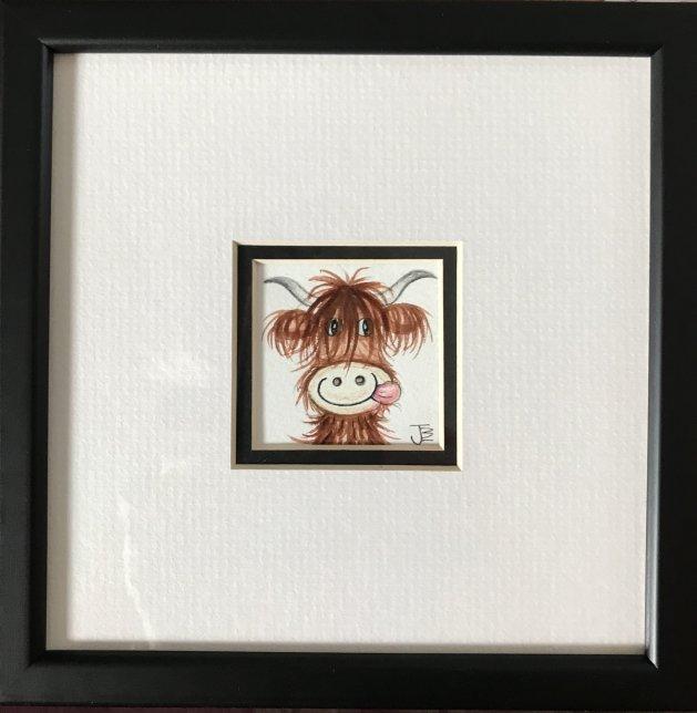 Heelan Coo. Original art by Jane Brookshaw
