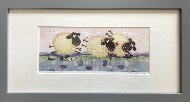 Woolly Jumpers III. Original art by Jane Brookshaw