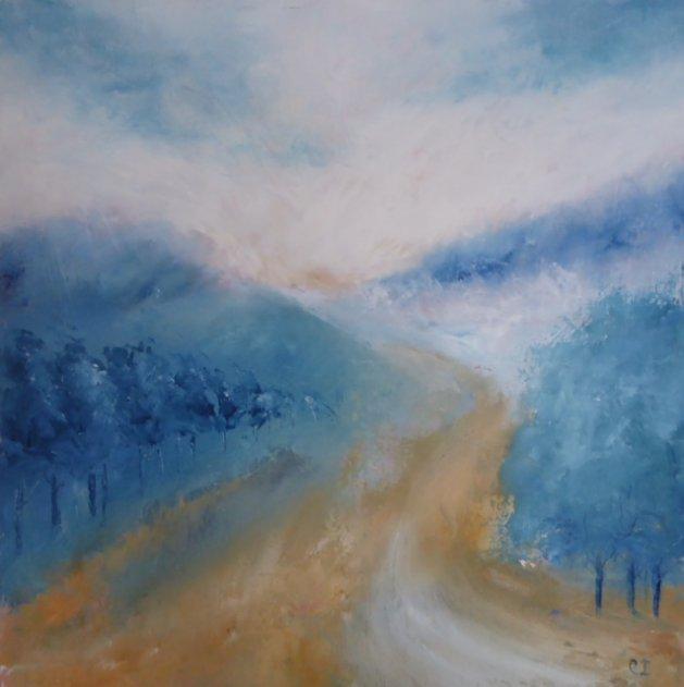 On the Path. Original art by Christine Ingram