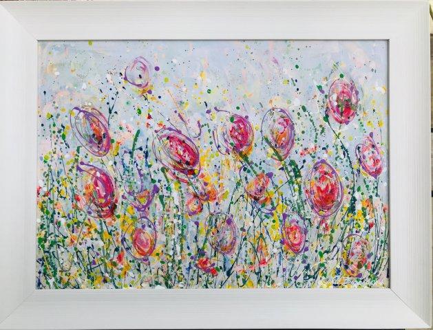 Wild Meadow II. Original art by Jane Brookshaw