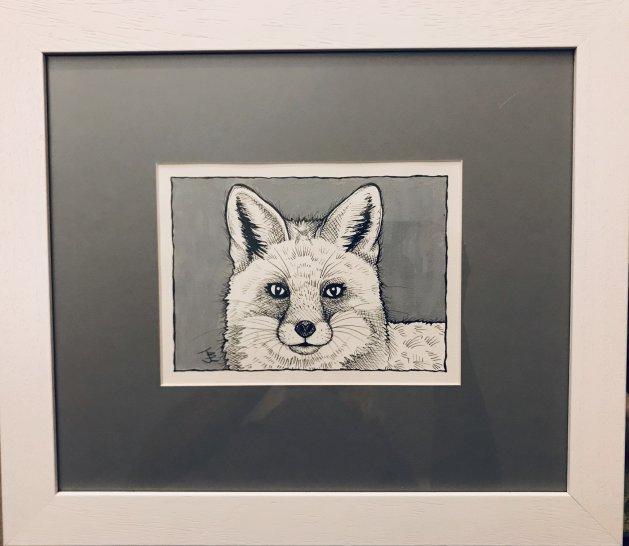 Mr.Fox ll. Original art by Jane Brookshaw