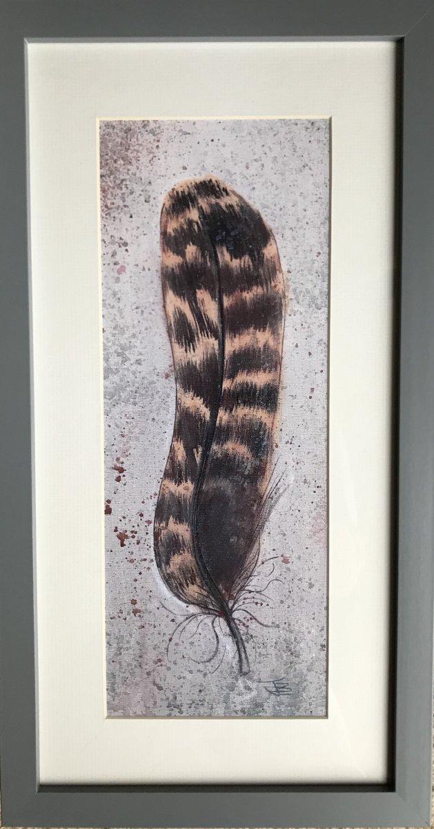 Feather. Original art by Jane Brookshaw