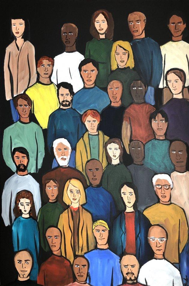 Faces 3. Original art by Aisha Haider