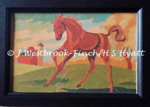 HORSE (Print). Original art by Juliette Westbrook-Finch