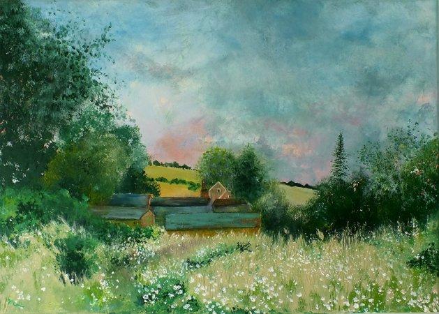 A Walk in Oxfordshire. Original art by Tracey Unwin